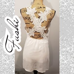 Small nightie gown white bridal wedding  lingerie